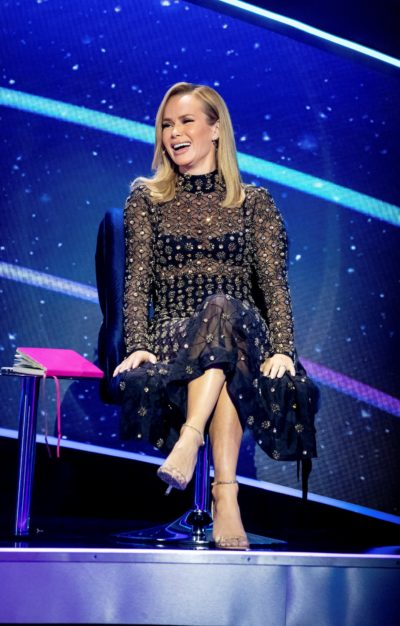 Amanda Holden laughs on I Can See Your Voice