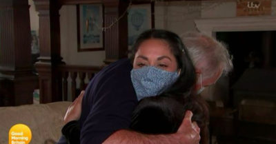 Dr Hilary Jones wife hug