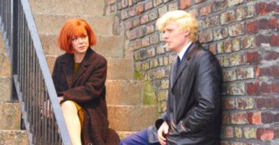 Aneurin Barnard and Sheridan Smith in Cilla