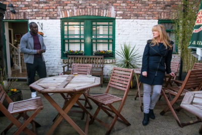 Jenny and Ronnie in Coronation Street