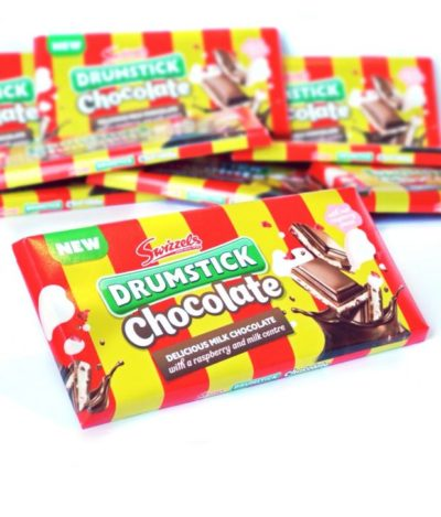 chocolate bar made from drumstick lollies