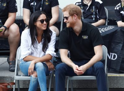Meghan Markle and Prince Harry smile at each other