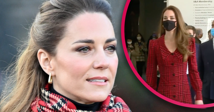 Kate Middleton at the V&A today