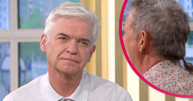 This Morning today saw Phillip Schofield mock Matthew Wright's ponytail after he fat-shamed the Friends cast