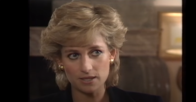 Princess Diana in her Panorama interview in 1995