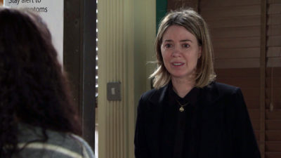 Abi tells Debbie that she wants whoever is responsible for Seb's death to suffer the same fate