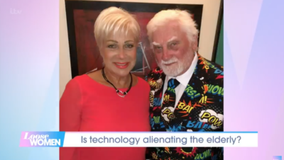 Denise loose women host with her dad