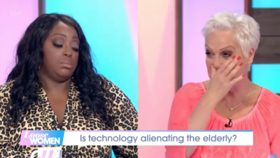 Denise on loose women crying over her dad