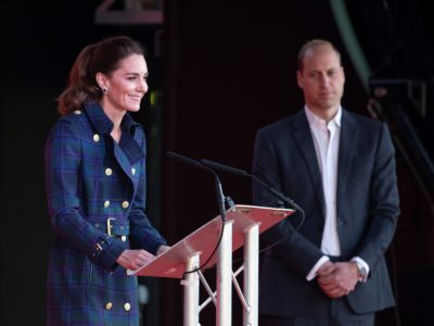 Kate Middleton and Prince William during their royal tour