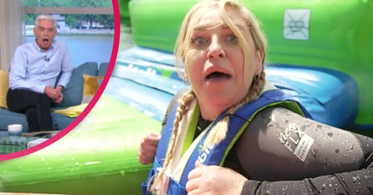 This Morning today saw Josie Gibson fall into a lake