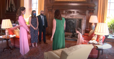 Kate Middleton wears pink dress to keep promise to Mila