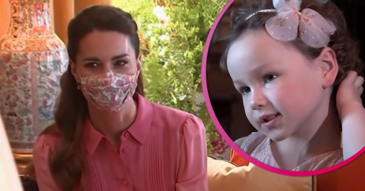 Kate Middleton wears pink dress as she meets Mila