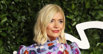 Holly Willoughby filming Midsomer Murders