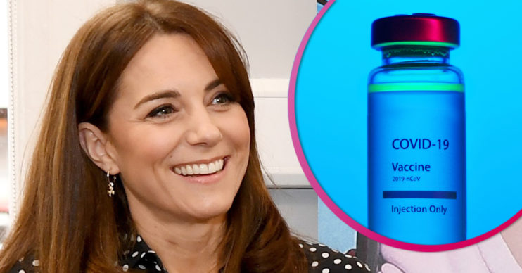 Kate Middleton gets Covid vaccine