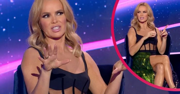 Amanda Holden dress: I Can See Your Voice fans stunned by star's revealing outfit which shows off her legs