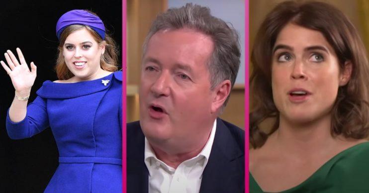 Piers Morgan news: Princess Beatrice and Princess Eugenie 'snub former GMB host'