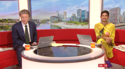 Naga Munchetty on BBC Breakfast divided viewers with her statement outfit