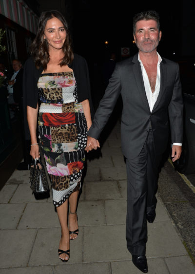 Simon cowell enjoys night out with Lauren Silverman