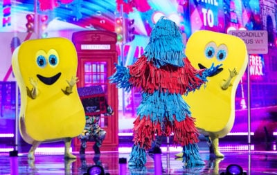 holly Willoughby masked dancer: star dresses as a sponge