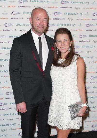 Alan Shearer with wife Lainya Shearer