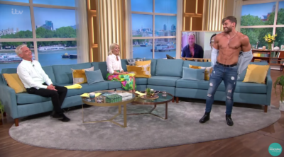 This Morning today saw a Dreamboy strip off live on-air