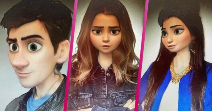 Disney character filter on Emmerdale cast