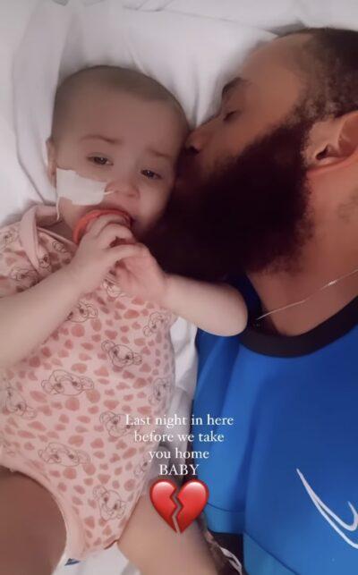 Ashley cain baby: star has blanket of Azaylia's face