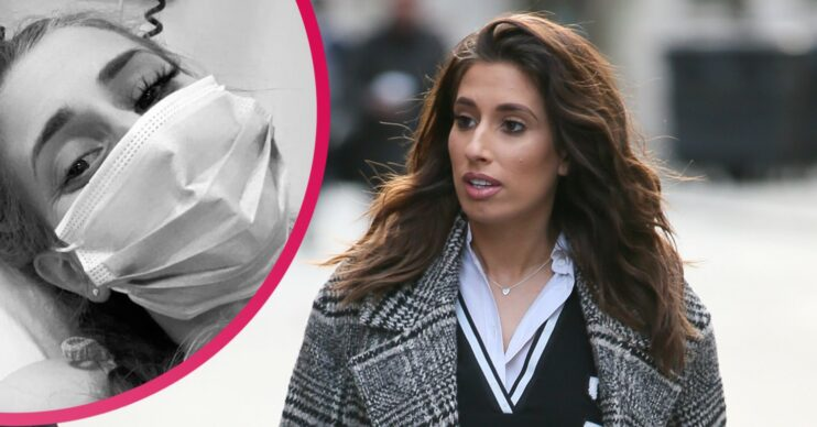 stacey solomon and rex home from hospital