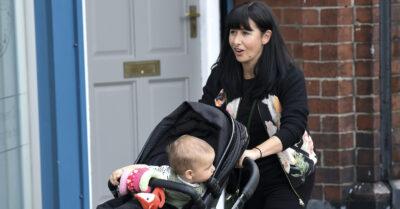 Emmerdale: Hayley Tamaddon with baby Jasper