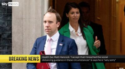 Matt Hancock leaves wife