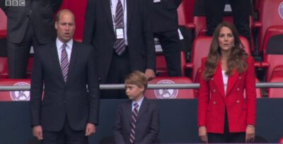 Prince George at football match