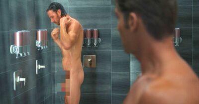 Adam Demos shower scene sex/life naked book