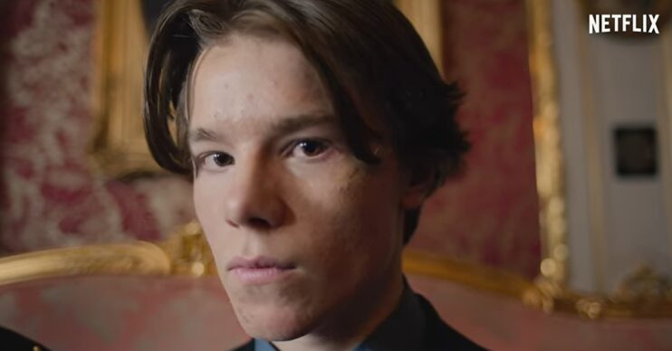 Edvin Ryding in a scene from Young Royals