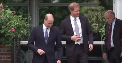 Prince William and prince Harry walking together