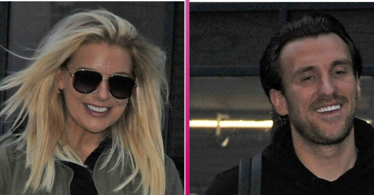 Sheridan Smith and Jamie Horn out walking together