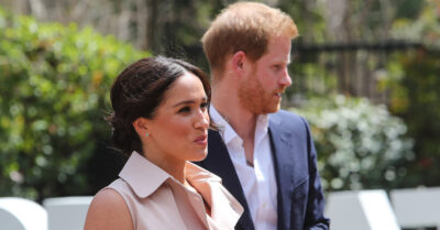 Prince Harry and Meghan giving an interview together