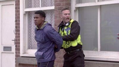 James is arrested in Coronation Street