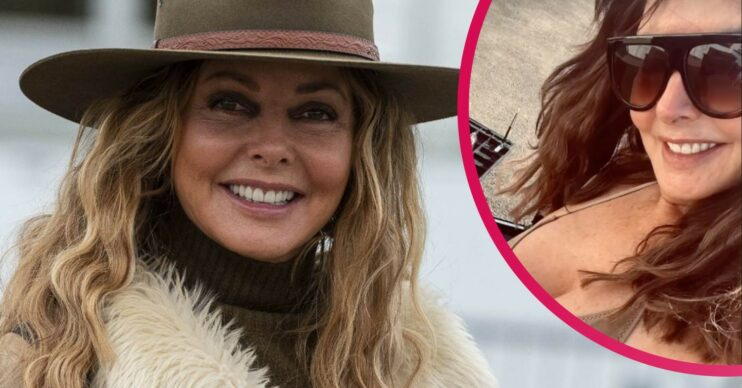 Carol Vorderman shows off her stunning figure on Instagram as she strips to her bikini for a spot of DIY