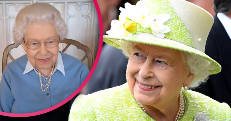 Queen Elizabeth takes part in a zoom call
