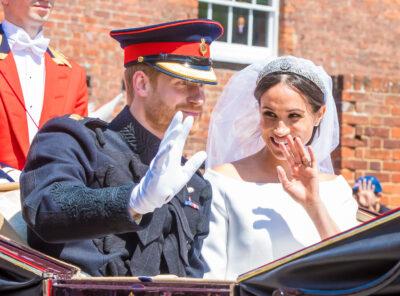 Prince harry news: couple at their wedding