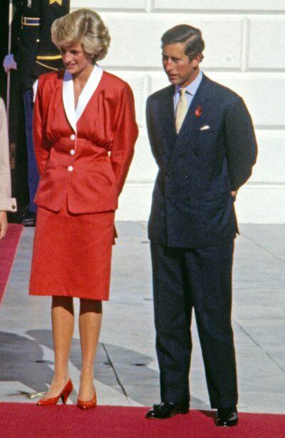 Princess Diana and Prince Charles during royal engagement