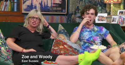 Zoe Ball and Woody Cook on celebrity gogglebox 2021