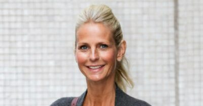 """Ulrika Jonsson gets dolled up for a 'date' with a mystery """"gentleman"""" - but insists on Instagram they're just friends"""