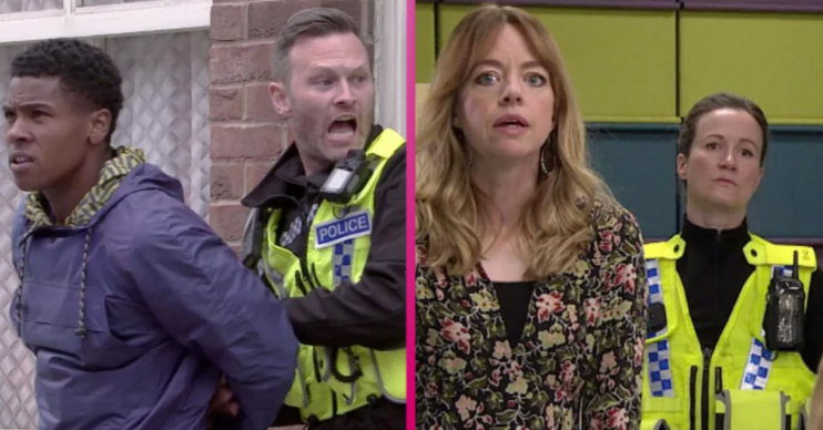 James and Laura are arrested in Coronation Street - Toyah looks on shocked