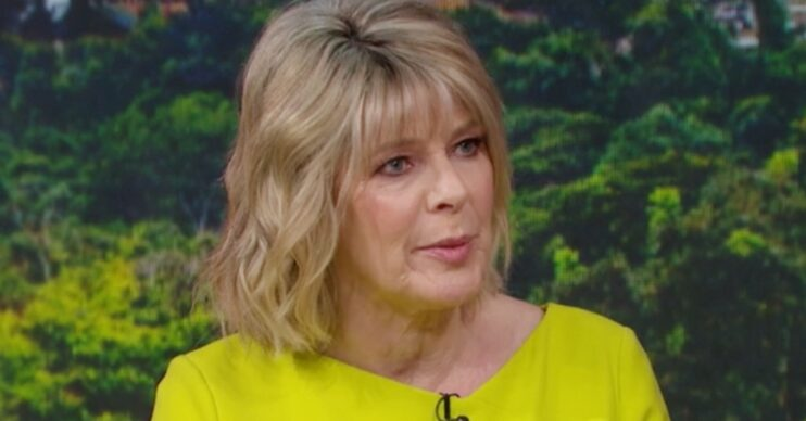 Ruth Langsford showing off her hair on This Morning