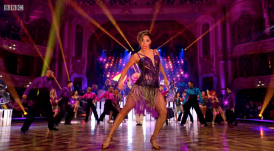 Strictly Come Dancing star Karen Hauer tears it up in the Blackpool Tower Ballroom