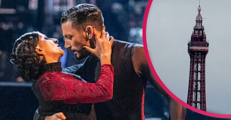Ranvir Singh and Giovanni Pernice smoulder on Strictly Come Dancing in the shadow of Blackpool Tower