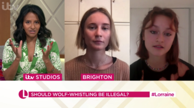 Lorraine today: Ranvir Singh hosted Lorraine and debated whether to outlaw wolf-whistling
