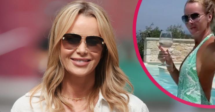 Amanda Holden showed off her toned back on holiday