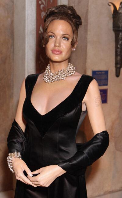 Little Mix Madame Tussauds Angelina Jolie waxwork